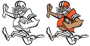 Lustige Fußball-Spieler-Karikatur-Vektor-Grafik-Illustration lizenzfreie stockfotos