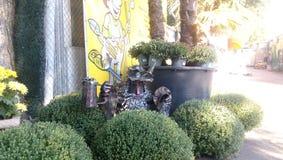 Lustige Garteninstallation Lizenzfreies Stockfoto