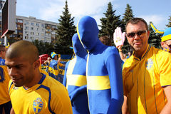 Lustige Gebläse auf EURO 2012 Stockfotografie