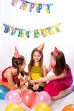 Lustige Geburtstagsfeier Stockbild