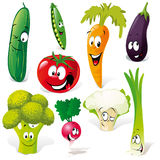 Lustige Gemüsekarikatur Lizenzfreies Stockfoto