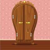 Lustige geschlossene Retro- Garderobe der Karikatur Stockbild