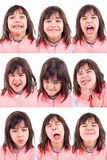 Lustige Gesichter stockfotografie
