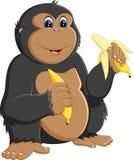 Lustige Gorillakarikatur vektor abbildung