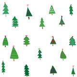 Lustige grüne Tannenbäume Lizenzfreies Stockfoto