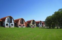 Lustige Häuser Stockbild