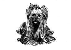Lustige Hundekunstillustration Lizenzfreies Stockbild