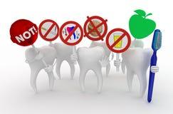Lustige Hygiene für Zähne Stockbild