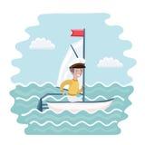 Lustige Illustration der Vektorkarikatur Lizenzfreies Stockbild