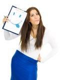 Lustige junge Frau mit Lächeln Lizenzfreie Stockbilder