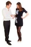 Lustige junge Paare Lizenzfreies Stockfoto
