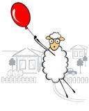 Lustige junge Schafe Lizenzfreie Stockfotos