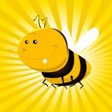 Lustige Karikatur-Biene Stockfoto
