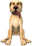 Lustige Karikatur-Hundeillustration lokalisiert Stockbild