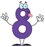 Lustige Karikatur Numbers-8 Stockfotografie