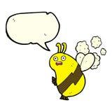 lustige Karikaturbiene mit Spracheblase Stockbilder