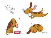 Lustige Karikaturhunde Lizenzfreie Stockbilder