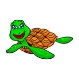 Lustige Karikaturmeeresschildkröten Stockbilder