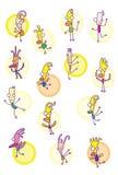 Lustige Karikaturvögel Lizenzfreies Stockbild