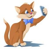 Lustige Katze, die selfie macht Lizenzfreies Stockbild