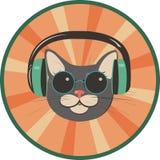 Lustige Katze in einem Retrostil Stockfotos