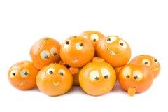 Lustige Klementinen Stockfoto