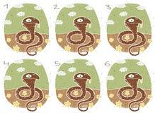 Lustiges Kobra-Sichtbarmachungs-Spiel Lizenzfreie Stockbilder