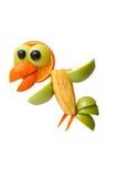 Lustige Krähe gemacht von den Früchten Stockbilder