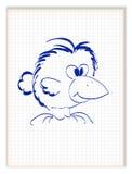 Lustige Krähe mit dem großen Schnabel Lizenzfreie Stockfotos