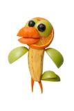 Lustige Krähe gemacht von den Früchten Lizenzfreie Stockfotos