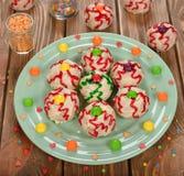 Lustige Kuchen für Halloween Stockfotografie