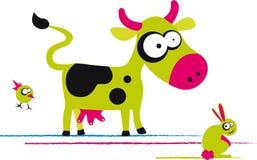 Lustige Kuh Stockfotografie