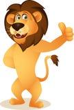 Lustige Löwekarikatur Stockfotografie