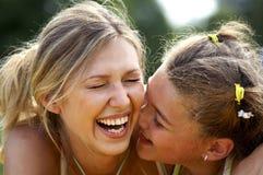 Lustige Mamma und Tochter Lizenzfreies Stockbild