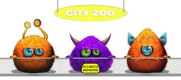 Lustige Monster der Karikatur Lizenzfreies Stockbild