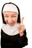 Lustige Nonne Lizenzfreies Stockbild