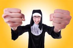 Lustige Nonne stockfotografie