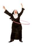 Lustige Nonne mit Spielzeug-Band Lizenzfreies Stockbild