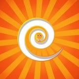 Lustige orange Schlange Lizenzfreies Stockbild