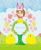 Lustige Ostern-Karte Stockfoto