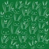 Lustige Ostern-Zeichnungsfeiertagskaninchen eingestellt lizenzfreie abbildung