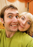 Lustige Paare Lizenzfreies Stockbild