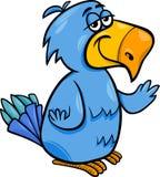 Lustige Papageienvogel-Karikaturillustration Lizenzfreies Stockbild