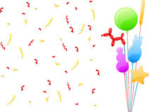 Lustige Parteiballone Lizenzfreie Stockfotos