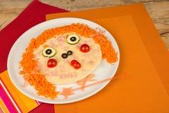 Lustige Pizza Stockfotos