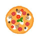 Lustige Pizza des Pixels Lizenzfreie Abbildung