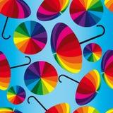 Lustige Regenschirme Stockbild