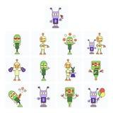 Lustige Roboter stellten ein Lizenzfreie Stockbilder