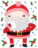 Lustige Santa Reading ein Buchstabe Lizenzfreie Stockbilder