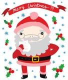 Lustige Santa Reading ein Buchstabe Lizenzfreies Stockfoto